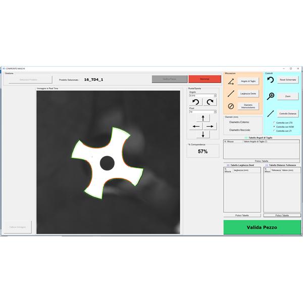 Profilmåling med laserscanner og sammenligning med matematisk model