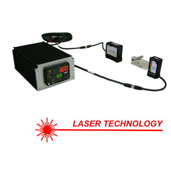 Utstyr med LASER-sensorer for berøringsfri dimensjonskontroll i laboratoriet eller på produksjonslinjen