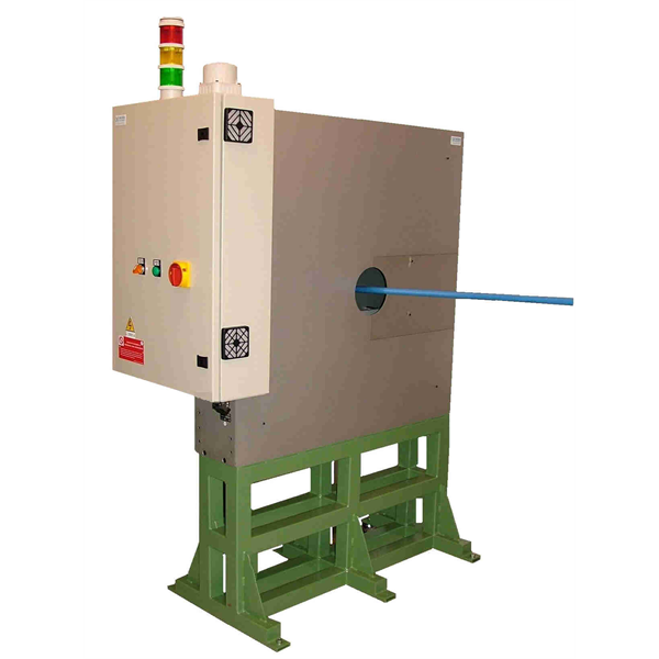 Defektstyrsystem på kontinuerliga produkter, ledningar, rör och kablar