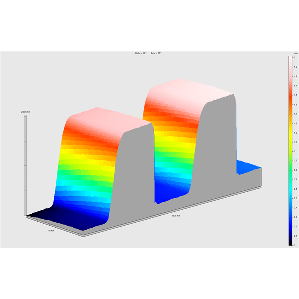 LASEROVÝ skener pro měření mechanických dílů pomocí 3D analýzy založené na mračnu bodů