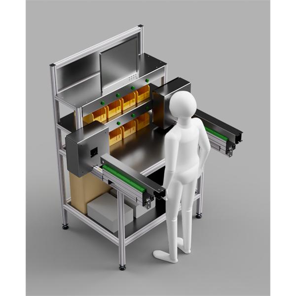 Monteringsbänkar med integrerad mät- och urvalsstation