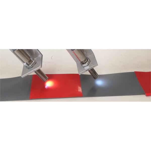 Bestemmelse av fargen på gjenstander, kontinuerlige bånd eller referansemerker